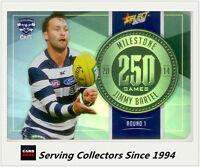 2015 AFL Champions Milestone Holofoil Card MG33 Jimmy Bartel (Geelong)