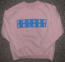 Vintage 90s United Colors Of Benetton Sweatshirt Crewneck XL Adult Pink Unisex