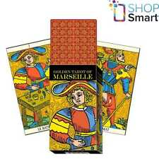 GOLDEN TAROT OF MARSEILLE DECK CARDS ESOTERIC FORTUNE LO SCARABEO NEW