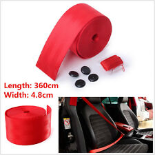 Red Universal Harness Racing Front 3 Point Safety Retractable Car Seat Lap Belt