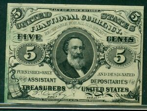 "5¢ Fractional Currency, w/letter ""a"", Fr. #1238, UNC+"