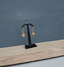 Dubrovnik Filigree Earrings, Croatian Simple 14k Gold Filigree Ball Earrings
