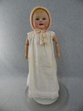 """20"""" antique Martha Chase Painted Stockinette Cloth Doll with Marking under arm"""
