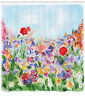 Shower Curtain Floral Colorful Flower Garden Themed Artsy 70 Inches Long