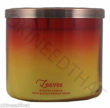 Bath & Body Works Leaves 3 wick 14.5 oz Candle ombre autumn apple berries fall