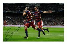 ANDRES INIESTA - BARCELONA AUTOGRAPHED SIGNED A4 PP POSTER PHOTO