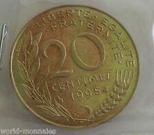 20 centimes marianne 1995 : SUP : pièce de monnaie française
