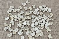 100 Wooden Inscribed Love Hearts 15mm Wedding Table Decoration Scatter Craft