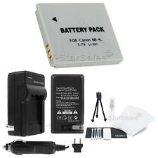 NB-4L Battery + Charger + BONUS for Canon PowerShot SD1000 SD1100IS SD1400IS