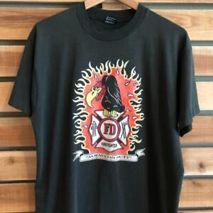VTG 80s/90s Best Fruit of the Loom Eagle Fire Department T Shirt L