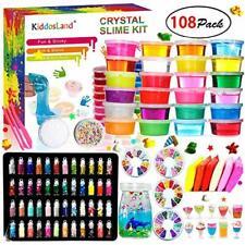 DIY Fluffy Slime Kit Crystal Slime Set for Girls Boys Toys Kids Art Craft aged