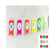 Happy Birthday Bunting Banner Multicolour 3m Tropical Mexican Fiesta