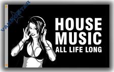New listing House Music Memorable flag 90x150cm 3x5ft Club music best banner & Flag