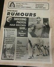 Vicious Rumors promo 4 panel Newspaper circa 1990