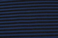 Jersey di cotone a righe nere e blu STOFFA AL METRO TESSUTO A METRAGGIO