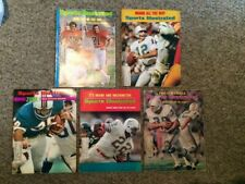 (5) Vintage 1972 & 73 Sports Illustrated Miami Dolphins Magazines (Super Bowl)