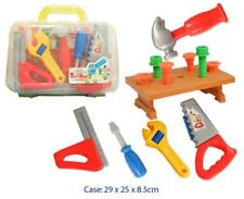 NEW Portable Childrens Tool Set in Case w/ Bench, Hammer, Screwdriver, Saw, Bolt