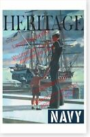 US Navy USS Constitution Old Ironsides Heritage Recruiting Poster