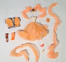 Barbie vintage 70s-80s Clothes Shoes Dress Purse Scarf Lot Peaches N Cream