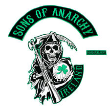 Full size Sons of Anarchy Ireland Quality Iron/Sew on patch set SOA Sambel
