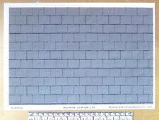 1/12th dolls house grey roof tile self adhesive vinyl - A4 sheet (297x210 mm)