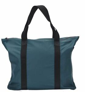 Rains Unisex 1224 Tote Bag Regular Dark Teal Blue OS