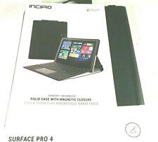 INCIPIO Faraday Folio Black Case Magnetic Closure Fits Microsoft Surface Pro 4