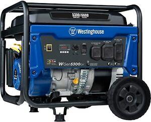Westinghouse WGen5300cv 6,600-W Portable RV Ready Gas Generator with CO Sensor