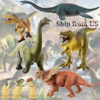 Jurassic Realistic Stegosaurus T-Rex Velociraptor Dinosaur Figures Kids Toy Gift
