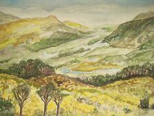 Lakes of KILLARNEY Ladies View Ireland Irish Watercolor Painting 9x12.5 Sullivan