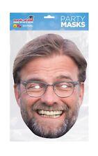 Jurgen Klopp Face Party Mask Card A4 Fancy Dress Sport Football Ladies Mens Kids