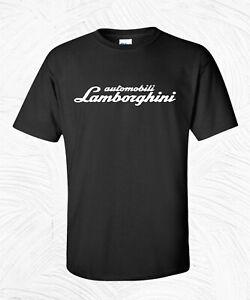Lamborghini Black T-Shirt Blend S M L XL