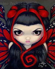 Grumpy Red Fairy gothic big eye goth art Jasmine Becket-Griffith CANVAS PRINT