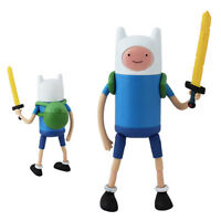 "Adventure Time With Finn & Jake Stretchy Finn  5"" Action PVC Figure NIB"