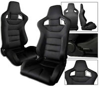 SLIDERS ALL FORD A NEW 1 PAIR GRAY CLOTH RACING SEATS