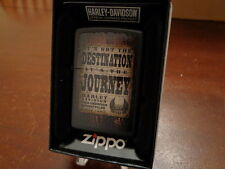 HARLEY DAVIDSON IT'S NOT THE DESTINATION IT'S THE JOURNEY ZIPPO LIGHTER MINT