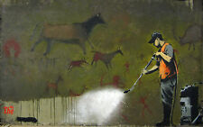 A0 POSTER PAPER BANKSY Graffiti Street Art Wall Decor Print cave painting