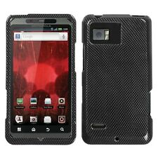 Carbon Fiber Hard Case Phone Protector Cover for Verizon Motorola Droid Bionic