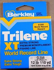 Trilene XT Low Visibility Clear, Extra Tough Fishing Line / 110 yds, 12 lb Test,
