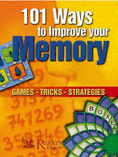"""NEW"" 101 Ways to Improve Your Memory; Games, Tricks, Strategies, Various, Book"