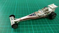 Vintage 1976 Ideal Hong Kong Evel Knievel Daredevil Dragster Toy Diecast Car