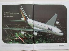 9/2001 PUB AVION AIRBUS A380 AIRLINER AIRLINES FLUGZEUG ORIGINAL AD