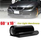 Car Headlight Tint Film Taillight Vinyl Wrap Fog Light Dark Black 16 X 60