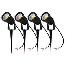 4PCS LED Landscape Light Outdoor Garden Path Spotlights Waterproof 3000K 5W 12V