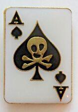 Lucky Ace of Spades Lapel Pin Casino Cards Hat Shirt Blackjack Poker Gambling