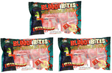 24 Bloody Bites Oozing Halloween Candy Blood Glow in Dark Fangs Vampire Teeth