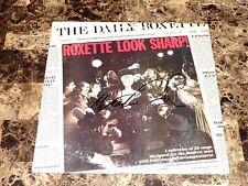 Roxette Rare Band Signed Look Sharp Vinyl LP Record Marie Fredriksson Per Gessle