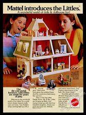 1981 Mattel Littles home doll house color photo vintage print ad
