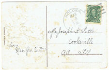 Holder Illinois 1909 4-Bar hand cancel