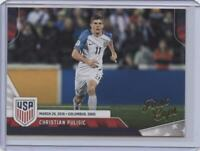 2016 Panini USA Soccer Christian Pulisic First Caps RC Chelsea FC USMNT Rookie
